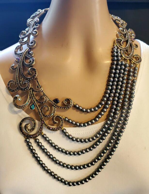 """Heidi Daus """"Couture Cascade"""" Drape Necklace  Ret: $300.95"""
