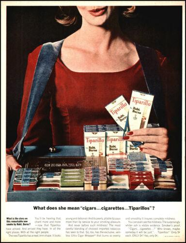1962 Tiparillos woman selling cigars cigarettes vintage photo print ad L29