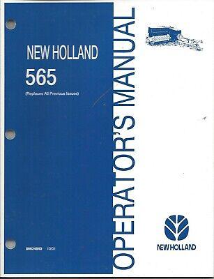 New Holland 565 Square Baler Operator Manual 86624840