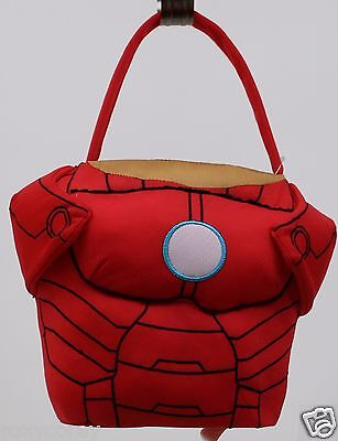 Easter Halloween Iron Man The Avengers Red Plush Tote Basket NWT (Avengers Easter Basket)