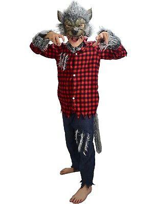 Werewolf Wolf man Children's Halloween Costume Boys Age 6 7 8 Years NEW FOR 2018](Werewolf Costume For Kids)