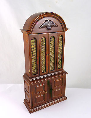 Closeout! Dollhouse Miniature SW Cabinet with Rattan Doors, J56002WN