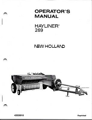 New Holland 269 Square Baler Operator Manual 42026910