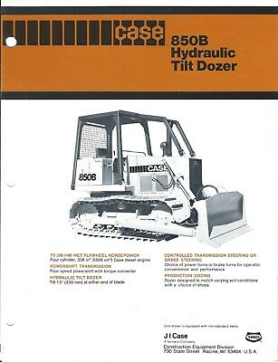 Equipment Brochure - Case 850b Hydraulic Tilt Dozer - 19 Winch - C1980 E4127