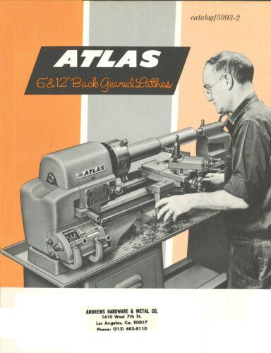 Atlas 6 inch & 12 Inch Back Geared Lathe Operator Instruction Manual