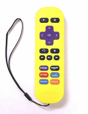 New Replacement Remote for ROKU 1/ 2/ 3/ 4 LT HD XD XS with 6 Shortcut Yellow