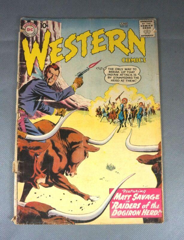 Western Comics #81 June 1960 - Matt Savage - National Comics - VG