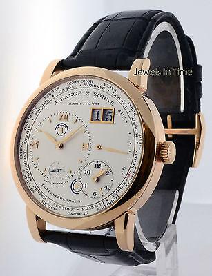 A. Lange & Sohne Lange 1 Timezone 18k Rose Gold Mens Watch Box/Papers 116.032