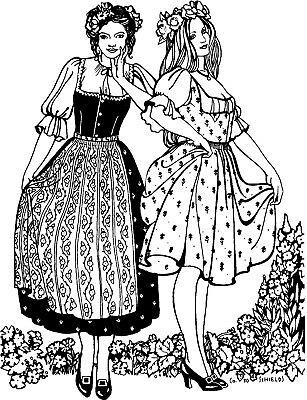 Renaissance Blouse Pattern (Folkwear Austrian Dirndl Dress Renaissance Blouse Sewing Pattern)