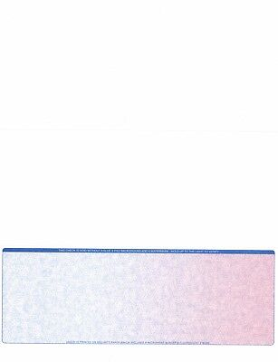 1000 Blank Check Stock Check On Bottom Fade Blue Red Ultra High Security