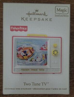 2012 NIB Hallmark Keepsake Magic Orn Two Tune TV, Fisher Price, Sound & Motion