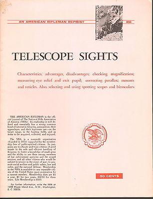 NRA American Rifleman Repint - Telescope Sights - 1961