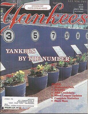 Vintage Yankees by the Numbers New York Yankees Magazine June 2, 1988   ()