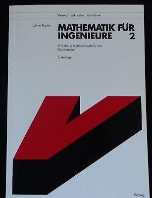 Mathematik für Ingenieure 2, Vieweg Verlag gebraucht kaufen  Wuppertal
