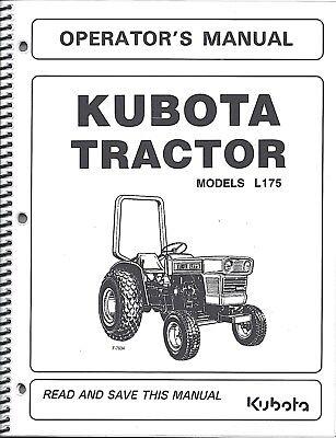 Kubota L175 Tractor Operators Manual W Maintenance 34159-19716