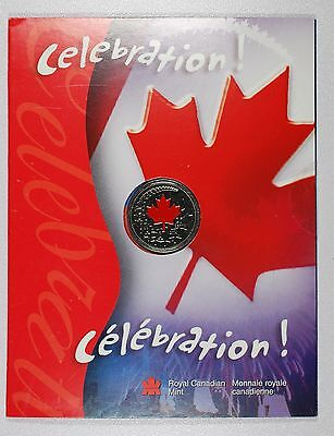 2004 Uncirculated Canada Day 25C   Celebration    Colorized    Low Mintage