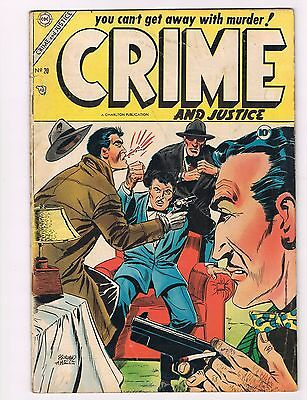 CRIME AND JUSTICE CHARLTON 20 FN+ TOUGH GOLDEN AGE CRIME DICK GIORDANO