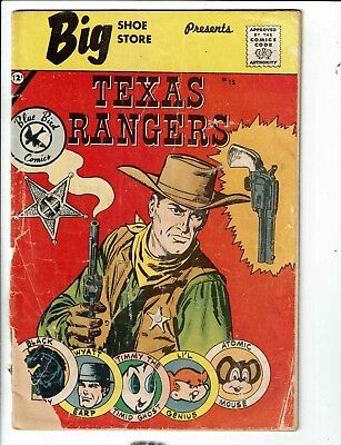 Texas Rangers # 15 GD Big Shoe Store Presents Comic Book Blue Bird Comics TP1