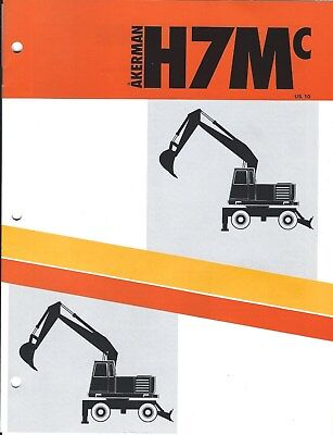 Equipment Brochure - Akerman - H7mc - Wheel Excavator - C1987 E4787