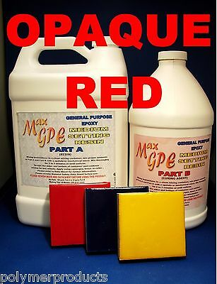 Epoxy Red Art Resin Gel Coat 4 Boat Coating Casting Waterproof Art Resin 1.5gal