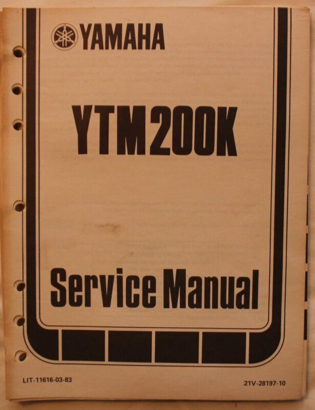 m Original 1982 Yamaha YTM200K Service Manual
