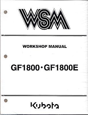 Kubota Gf1800 E Mower With Decks Workshop Service Manual 97897-11432