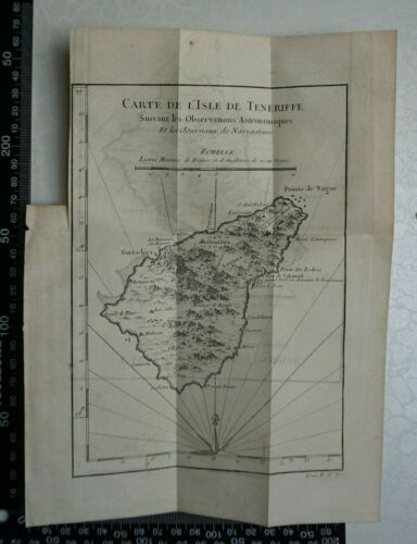 1749 - Bellin Map of Tenerife