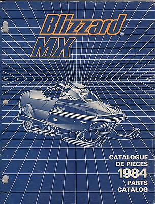 1984 SKI-DOO BLIZZARD MX  SNOWMOBILE PARTS MANUAL