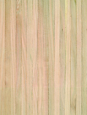 """1:12 Scale Natural Finish Wooden Strip Flooring Dolls House Miniature 18"""" x 12"""""""