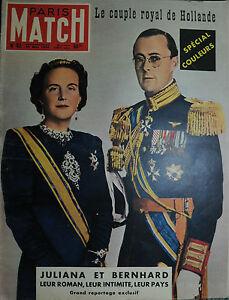 MATCH-PARIS-N-62-27-MAI-1950-Le-couple-royal-de-Hollande-JULIANA-ET-BERNHARD