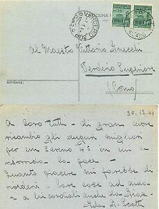 430 - RSI (Repubblica Sociale) - 25 cent Monumenti distrutti su cartolina, 1944 - Italia - L'oggetto può essere restituito - Italia