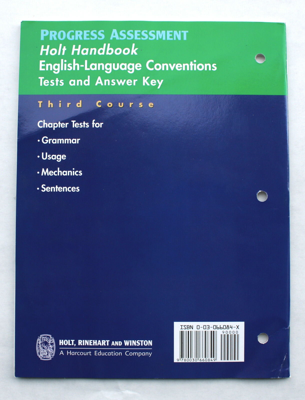 Holt Handbook Third Course English Language Conventions Test And Answer Key 9780030660849 Ebay [ 1600 x 1220 Pixel ]