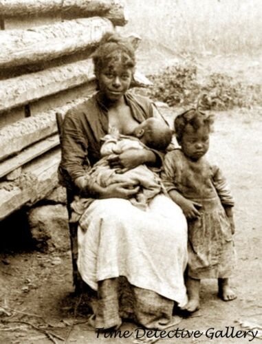 African American Mother and Her Children - 1860s - Historic Photo Print
