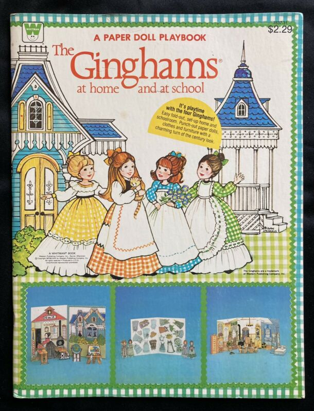 The Ginghams Paper Doll PlayBook, Uncut, 1980 Whitman