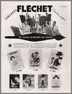 1949/1950 document : publicité concours affiche chapeau fléchet 1p