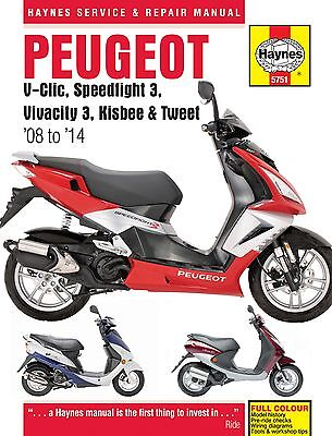 Haynes Manual 5751 - Peugeot V-Clic, Speedfight 3, Vivacity 3, Kisbee & Tweet