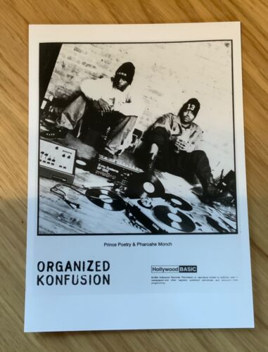 "Organized Konfusion Pharoahe Monch  Rap hip Hop promo Press photo 7x5"" 1994"