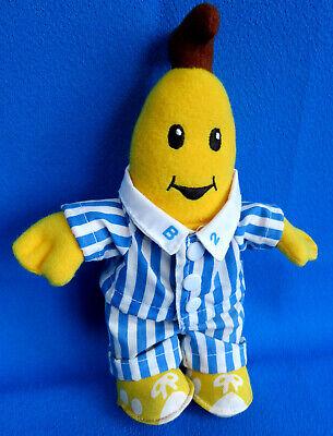 "original 90's vintage 1995 8"" tall BANANAS IN PAJAMAS B 2 soft toy doll * TOMY"