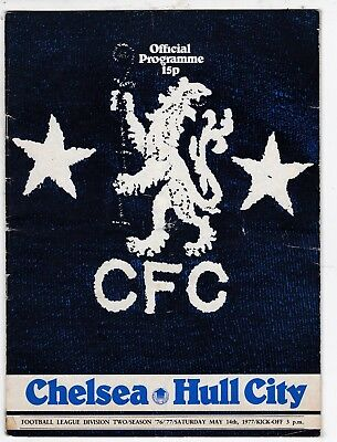CHELSEA V HULL CITY DIVISION TWO  14/5/77