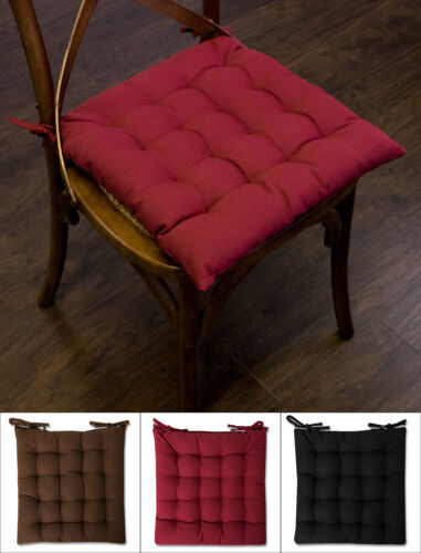 Chair Pad Cushion Tufted Cotton Cover  16″ x 16″ 2, 4 or 6 Pack Home & Garden