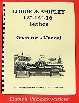 Lodge Shipley 12 14 16 Lathes Operators Manual 0435
