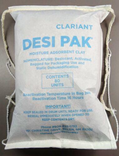Clariant Desi-Pak 80 Unit Desiccant - Sewn Bag - PN 3822 - Bentonite - FREE Ship