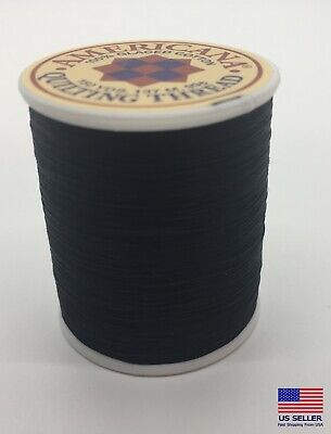 Sewing Thread 100 Cotton Spool Black Usa All Purpose Sew For Mask Making New