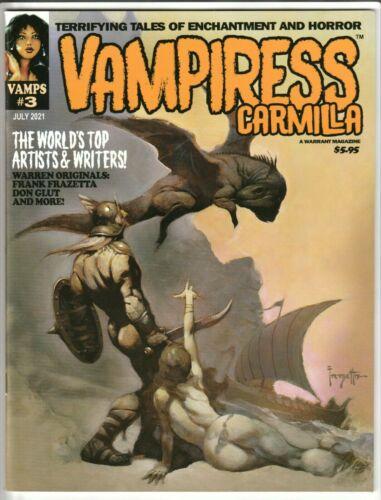 VAMPIRESS CARMILLA MAGAZINE #3 JULY 2021 NM 9.4 (UNREAD) WARRANT PUBS VAMPIRELLA