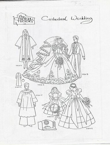 Cathedral Bride Doll Pattern For Barbie size Rare