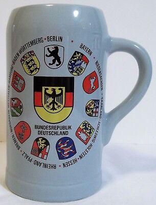 Beer stein for German Oktoberfest,   Bundesrepublik Deutschland pottery ale mug](Oktoberfest Mug)