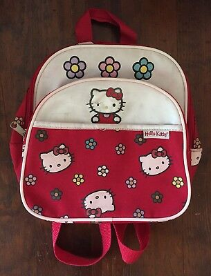 VTG Sanrio Hello Kitty Mini Backpack Bag Red White Retro Style Adorable 2001