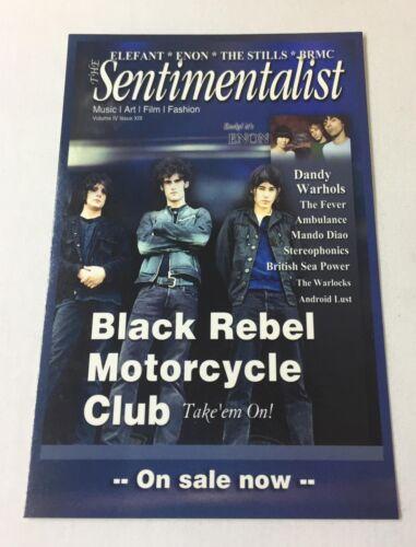 2003 Sentimentalist promo postcard ~ BLACK REBEL MOTORCYCLE CLUB, DANDY WARHOLS