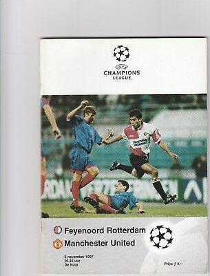 207/ FEYENOORD ROTTERDAM V MANCHESTER UNITED CHAMPIONS  LEAGUE 5 NOV..1997