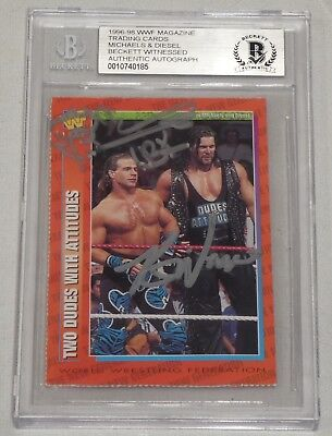 Shawn Michaels Marty Jannetty Signed 1991 Classic WWF Card #137 BAS COA WWE Auto